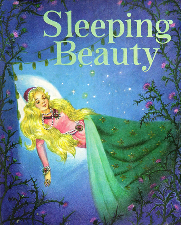 Sleeping Beauty Vintage Children's Storybook Fabric Panel 36 x 44 Inches from Four Seasons