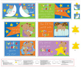 Twinkle Twinkle Little Star children's soft cloth book panel to sew 12 pages primary colors