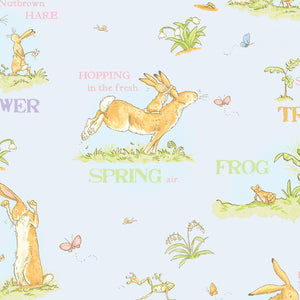When I'm Big Grey Mist cotton toille children's fabric from Guess How Much I Love You Collection 44 Inches Wide