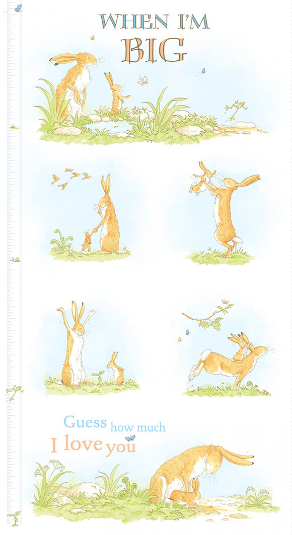 When I'm Big Children's Cotton Growth Chart Panel from Guess How Much I Love You Collection