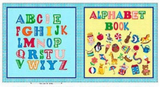 Children's Alphabet Soft Cloth Book Panel To Sew from Quilting Treasures Cotton in Primary Colors
