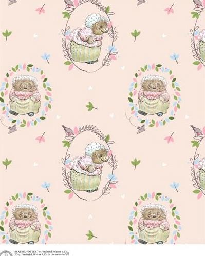 Mrs. Tiggy Winkle Pink Cotton Fabric Yardage 44 Inches Wide