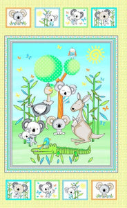 Koala Party Koala Bear Children's Cloth Fabric Panel