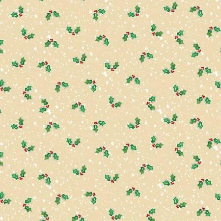 Happy Holiday Snowmen Cotton Fabric by Benartex 44 inches wide colors of cream green and red