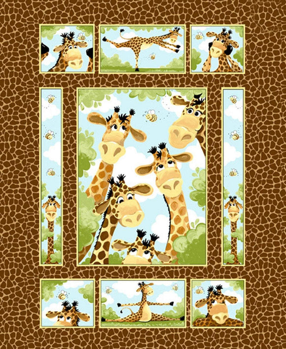Zoe The Giraffe Children's Fabric Panel by Susybee