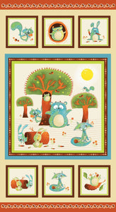 WOODSY WONDERS PANEL,  Cotton Panel 23.5 x 44 inches by Nidhi Wadhwa for Henry Glass