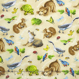Quiet Bunny And The Night Song Children's Woodland Fabric