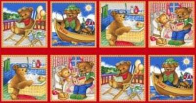 Thomsen Bears Children's Cotton Fabric Panel