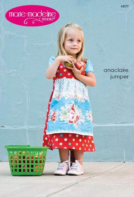 Anaclair Jumper Dress girls pattern sizes 2 through 14 by Marie Madeleine Studios