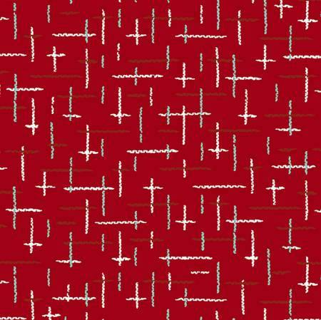Retro Santa Multi Red Cotton Holiday Christmas Fabric colors of red blue and white coordinate with Retro Santa Fabric Panel