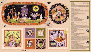 Boppity Boo Children's Halloween fabric panel.  Several projects in 24 x 44 inch panel from Red Rooster Fabrics.