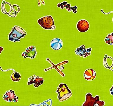 WEE PLAY CHILDREN'S Fabric by Kathy Brown for Red Rooster Fabrics 43-44 inches cotton fabric