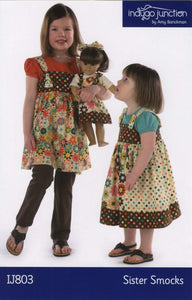 SISTER SMOCK PATTERN, Dress Smock Pattern from Indygo Junction