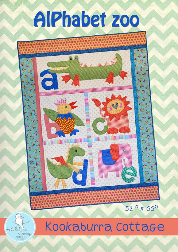 Alphabet Zoo Quilt Pattern by Kookaburra Cottage