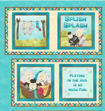 SPLISH SPLASH CLOTH Book Panel by Sandy Lee for Henry Glass