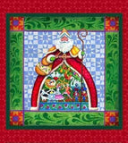 Jim Shore Santa Holiday Pillow Panels to Sew 36x44 inches in traditional holiday colors