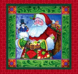Traditional Jim Shore Christmas Holiday Pillow Panels to sew 36x44 in traditional holiday colors