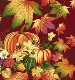 Autumn Cranberry Holiday Thanksgiving Panels Autumn Colors