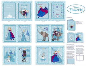 Disney Frozen Children's Cloth Book Panel featuring characters from Frozen