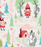 Little Red In The Woods Children's Cotton Nursery Rhyme Fabric 44 inches wide