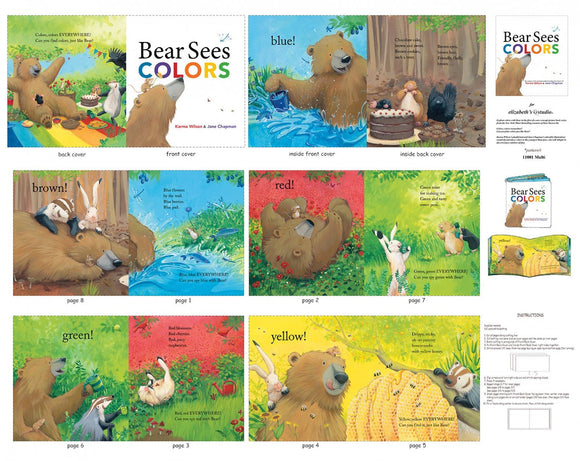 Bear Sees Colors Soft Cloth Book Childrens Fabric Panels
