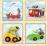 On The Go Fabric Panel Cars, Trucks, Ships, Buses