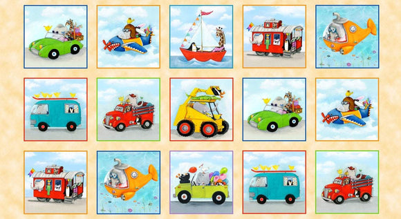 On The Go Fabric Panel Cars, Trucks, Ships, Buses, Helicopters and Planes