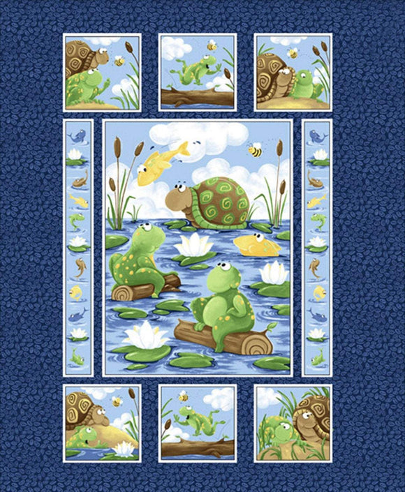 SUSYBEE CHILDREN'S PANEL, Paul and Sheldon Cotton Childrens Fabric Panel 36 x 44 Inches