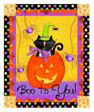 Children's Halloween Fabric Panel Hocus Pocus 22 x 44 inches.
