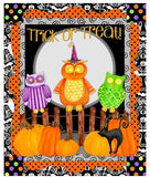 Children's Halloween Fabric Panel Hocus Pocus 22 x 44 inches
