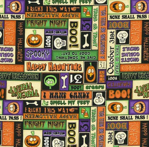 Halloween Fabric By The Yard A Haunting We Will Go