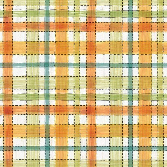 HARVEST PLAID COTTON, Fabric by David Textiles 44-45 Inches Wide