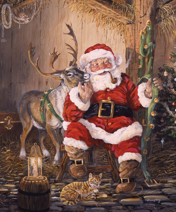 Christmas Memories Fabric It Is Time To Go Santa Panel 36 x 43 Inches