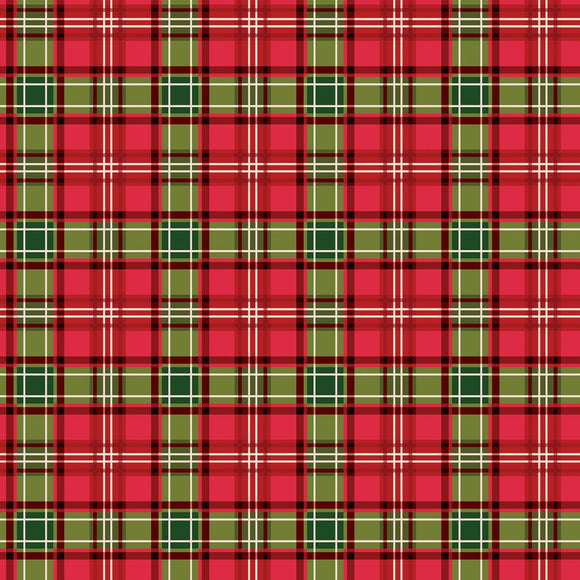 Christmas Memories holiday red and green plaid fabric from Riley Blake