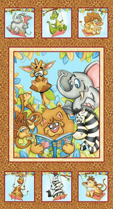 Jungle Story Children's Cotton Fabric Panel