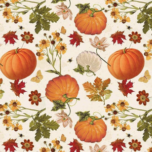 Timeless Treasures YARD Fall Thanksgiving Home Leaves Patch Harvest Fabric