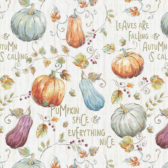 PUMPKIN PATCH COTTON, Fabric by David Textiles 44-45 Inches Wide