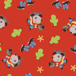 Red Cowboy Dog Children's Cotton Flannel by Camelot