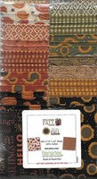 Welcome Fall 2 1/2 x 42 inch strips 40 pieces from Benartex Cotton colors of rust orange gold brown black cream green