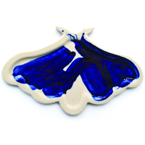 3. Pie-Molded Porcelain Moth Plate by Adam Chau