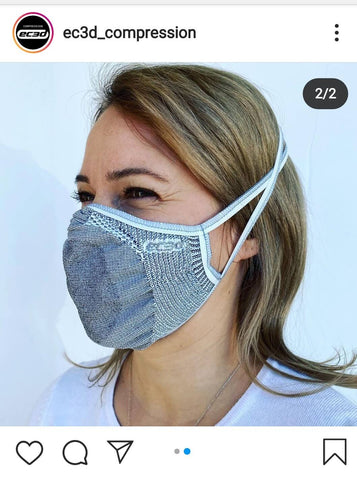 E3CD face mask fashion with copper protection and styllsh presentation