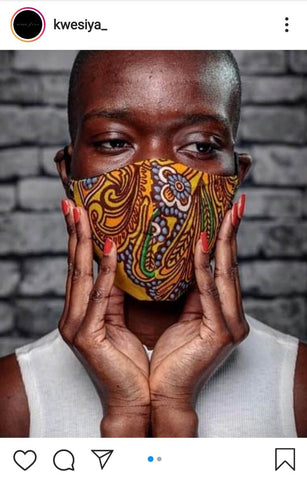 Kwesiya face mask fashion beautiful African face covering mask