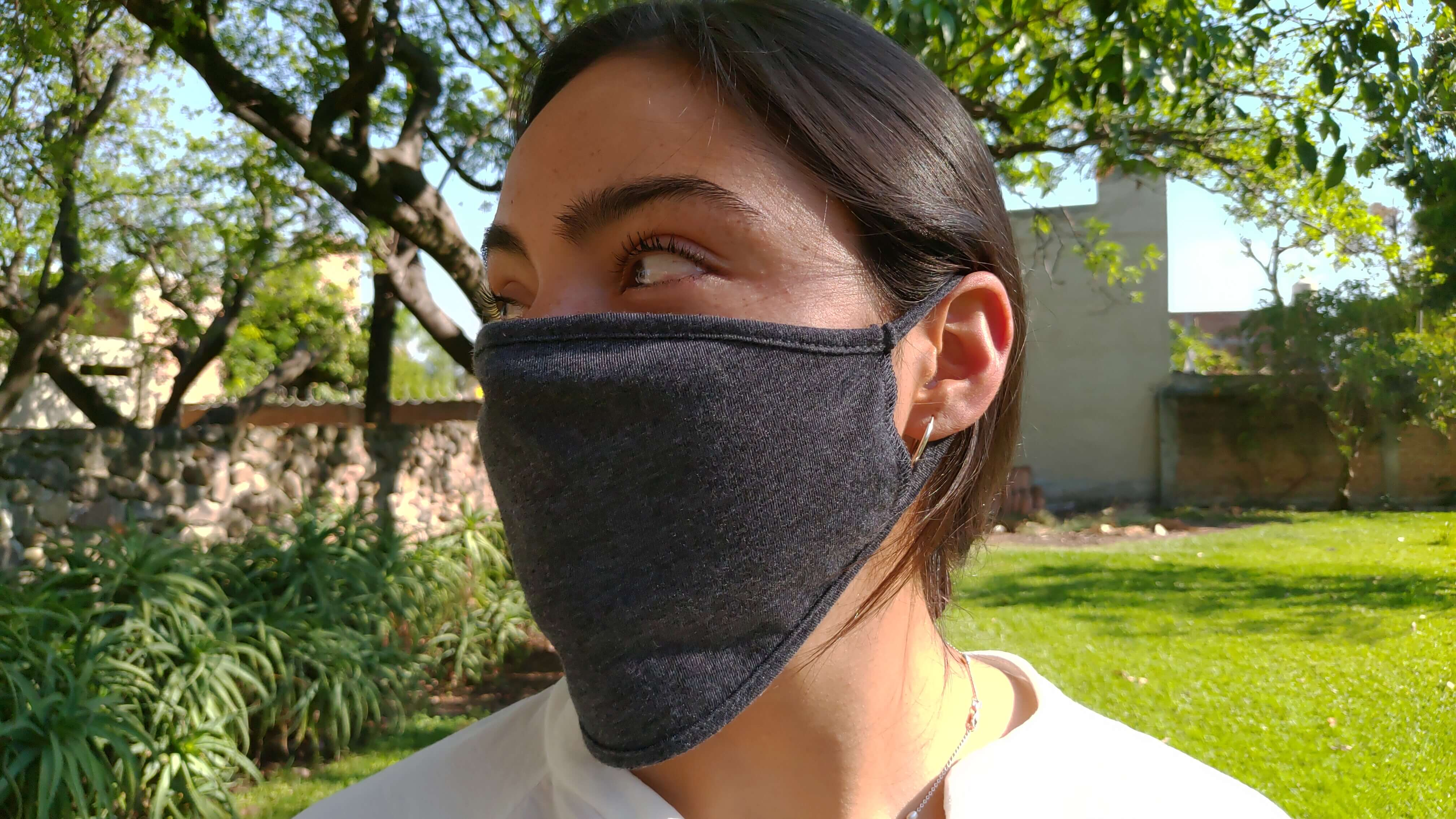 Uranta Premium Face Mask -- 1 color logo/text/graphic -- 2 breathable cotton/polyester layers, washable