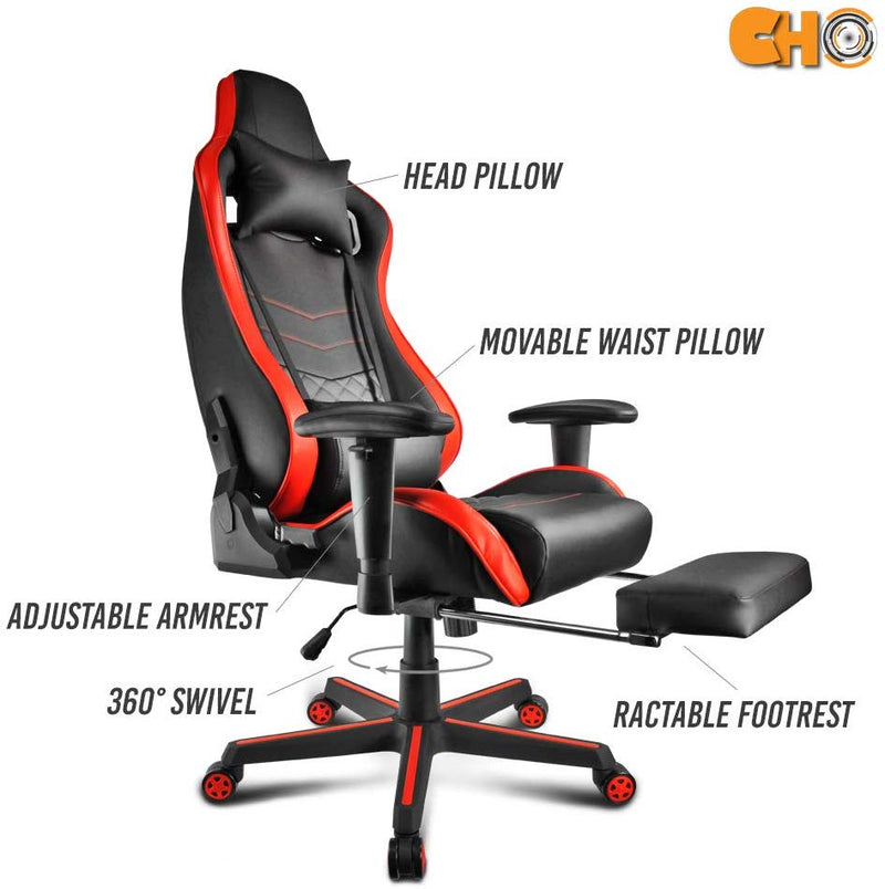 CHO Gaming Office Chairs Racing Red/Black - CHO Sports