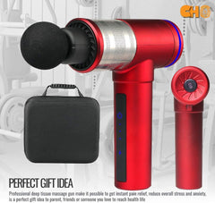 CHO Cordless Massage Gun Handheld Portable Professional Deep Body Muscle Massager Pain Relief RC Red - CHO Sports