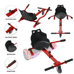 Hover Cart Attachment Seat Hoverboard Electric Self Balancing Red - CHO Sports