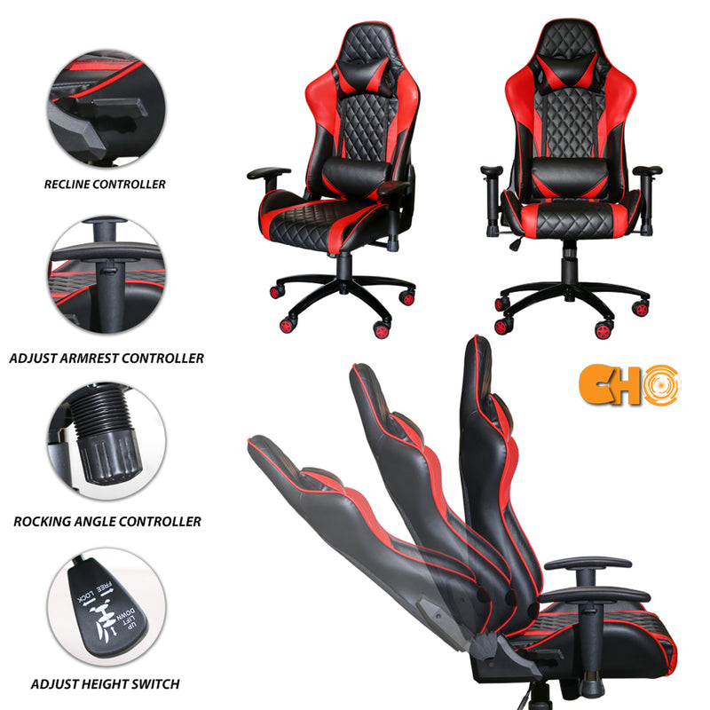 Gaming Chair Red & Black GM-2289 - CHO Sports