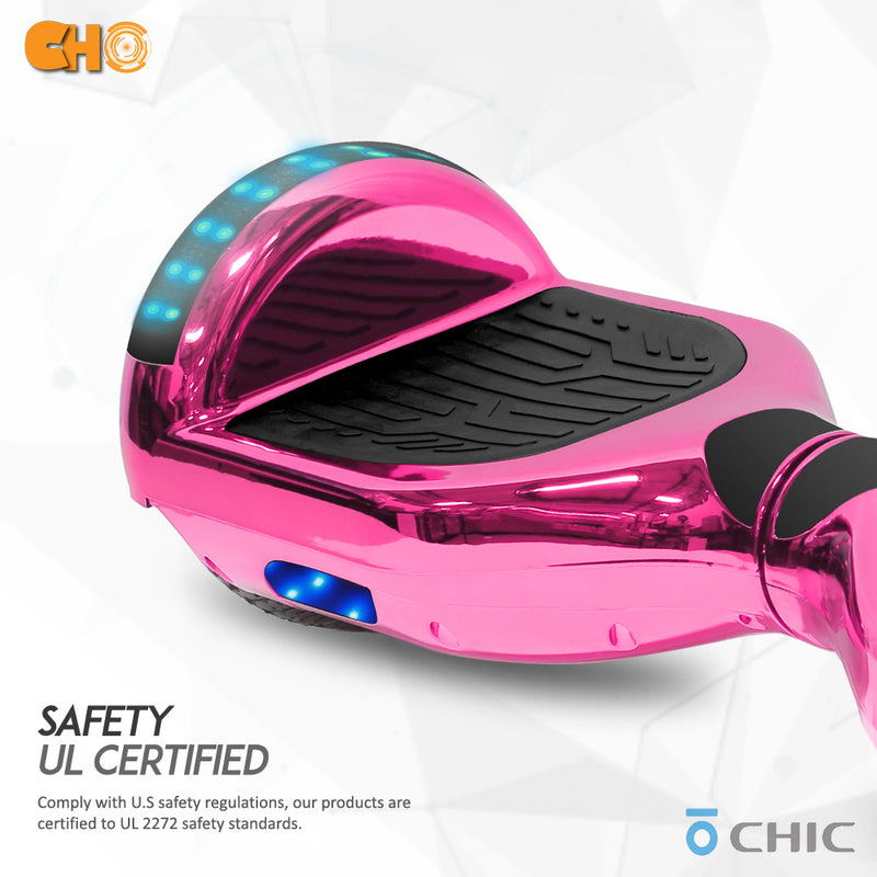 "6.5"" CHO Chrome Series Hoverboard Chrome Pink - CHO Sports"