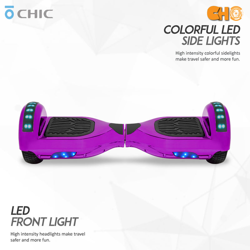 "6.5"" CHO Chrome Series Hoverboard Chrome Purple - CHO Sports"