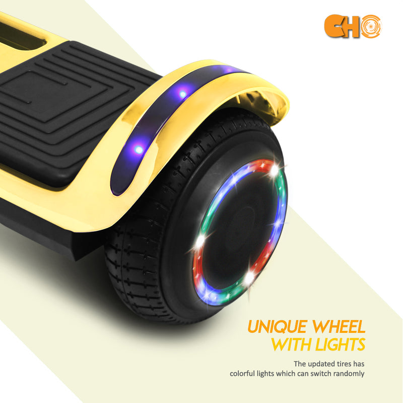 CHO Flatboard Series Hoverboard Chrome Gold - CHO Sports